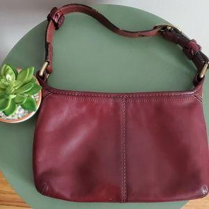 Coach maroon leather purse